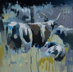 Plein Air Cattle / 8 x 8 / Oil on Canvas