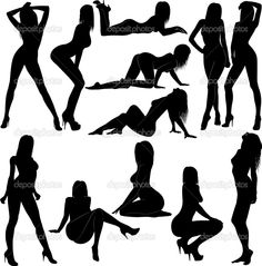 Illustration of silhouette naked women vector art, clipart and stock vectors. Woman Silhouette, Silhouette Vector, Photography Poses Women, Boudoir Photography, Photografy Art, Silhouette Fotografie, Poses Photo, Silhouette Photography, Poses References