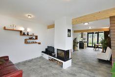 Ruime woonkamer Flat Screen, Exterior, Modern, Houses, Blood Plasma, Trendy Tree, Flatscreen, Outdoor Rooms, Dish Display