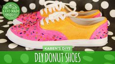 It's time for another Mystery Box Challenge! This week everyone is decorating a pair of white sneakers, and Karen kicks it off by turning hers into sweet-loo...