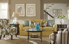 I am in love with this Paula Deen couch and chair (and throw pillows)!!!