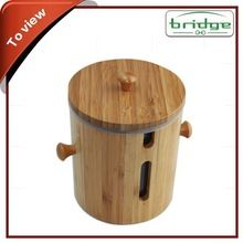 Fancy decorative bamboo food storage box with lid