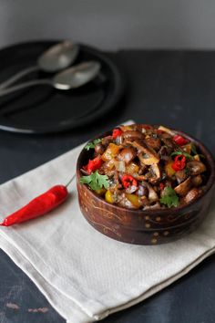 Mushroom Chili Fry Recipe, How to make Goan Mushroom Chili Fry Recipe