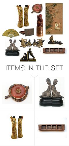 """""""Chinese Collectibles"""" by patack ❤ liked on Polyvore featuring art"""
