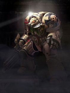 Warhammer: Going First-Person With Space Hulk: Deathwing - Space Hulk… Warhammer Dark Angels, Warhammer 40k Rpg, Dark Angels 40k, Warhammer Fantasy, Dark Fantasy, Sci Fi Fantasy, Space Hulk Deathwing, Space Marine, Sci Fi Art