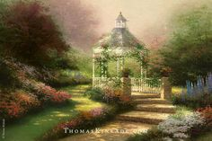 """The Hidden Gazebo"" - Thomas Kinkade - 1994"