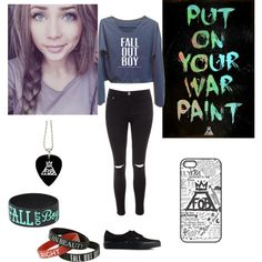 Fall Out Boy by wannabefashionguru on Polyvore featuring polyvore fashion style Glamorous Vans