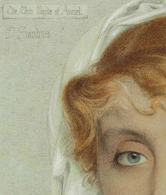 """Frederick Sandys """"The White Mayde of Avenel"""" (detail modified) 19th century 