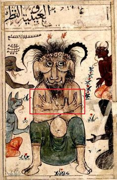 Islamic depiction of Iblis, Satan from a century manuscript Medieval Life, Medieval Art, My Demons, Angels And Demons, The Stranger Book, Gravure Photo, Medieval Drawings, Medieval Manuscript, Illustrations