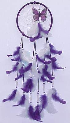 Native American Dreamcatchers- Purple Glow