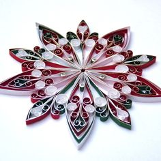 Christmas Decorations, quilled, eco-friendly – 6.7 cm