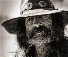 Eddie's a real cowboy in Wyoming.