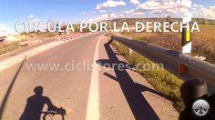 En bicicleta, circula lo más pegado posible a la derecha