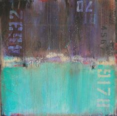This painting is part of the Weathered Series. In this series I am inspired by old objects, billboards and buildings that are in the process of decaying.These paintings have a history that can be viewed through the layers of mark making,