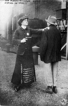 Suffragette posed to illustrate woman police concept, Cincinnati, September 23 1909 - Imgur