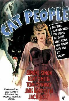 My EIGHTH most favorite movie poster, Cat People (1942). Gorgous vintage poster. ~ a previous pinner