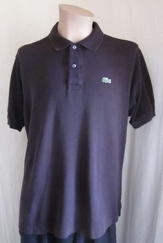 a6934c91 LACOSTE Men's Brown Alligator Short Sleeve Polo Shirt Size 6 US XL XLarge  #Lacoste #