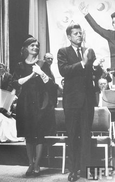 Jackie Kennedy Sen. John F. Kennedy & his wife Jackie at political rally. Location: New York, NY, US Date taken: 1960             ♡✿♡❁♡✾♡✽♡❃♡❀♡  http://en.wikipedia.org/wiki/John_F._Kennedy http://en.wikipedia.org/wiki/Jacqueline_Kennedy_Onassis  http://www.nps.gov/jofi/index.htm  http://www.nps.gov/nr/travel/presidents/john_f_kennedy_birthplace.html  http://en.wikipedia.org/wiki/United_States_presidential_election,_1960