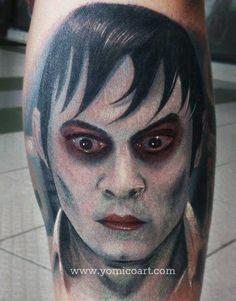 tattoos of johnny depp Movie Tattoos, Horror Tattoos, Tattoo Photos, Portrait Tattoos, Johnny Depp Movies, The Lone Ranger, Great Tattoos, Body Mods, Alice In Wonderland