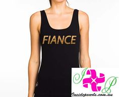 Fiance Tank Top Bride Tank Bachelorette Party Engagement Gift Fiance shirt Bride Shirt Bridal Shower Gift. Mrs Shirt, Bride Shirts, Bachelorette Shirts, Team Bride, Bridal Gifts, Just Married, Athletic Tank Tops, Trending Outfits, Bridal Shower