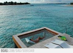 Dock Hammock - I need this in my life.