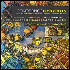 Contornos urbanos no traço de Marcelo Gemmal - o Centro do Rio nos seus 450 anos : Solar Grandjean de Montigny - PUC
