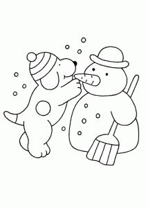 free printable snowman coloring page 1