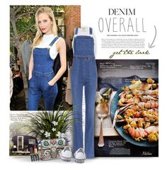 """Denim Overall"" by thewondersoffashion ❤ liked on Polyvore featuring Gothenburg London, STELLA McCARTNEY, River Island, THEATRE PRODUCTS, Gucci, Converse, converse, StellaMcCartney, RiverIsland and gucci"