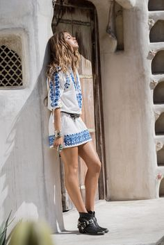 Edgy ankle boots as worn by boho babe, Mimi Elashiry, for Spell Designs. Perfection.
