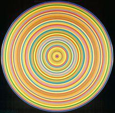 Claude Tousignant, Accélérateur chromatique,  Acrylique sur toile, 1967