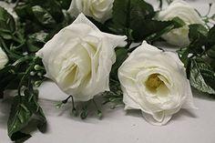 Best Artificial (TM) 210cm/7ft Silk Flower Rose Garland Hanging Vine Wedding String Plant (White) Best Artificial http://www.amazon.co.uk/dp/B00T62USIW/ref=cm_sw_r_pi_dp_qi7tvb0DBPDGF