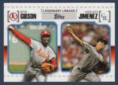 Bob Gibson / Ubaldo Jimenez # LL 65 - 2010 Topps Update Baseball Legendary Lineage