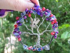 Fairymagic tree of life with flowers and pearls comes w/sari ribbon.