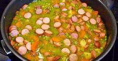 Schnelle Erbsensuppe aus Tiefkühlerbsen und frischen Möhren Zubereitung ganz ohne Fett