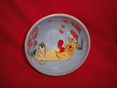 Dog Bowl 8 Dog Bowl for Food or Water Personalized at no Charge Signed by Artist Debby Carman ** Check this awesome product by going to the link at the image.