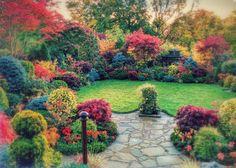 The Four Seasons Garden in autumn. Walsall, England.