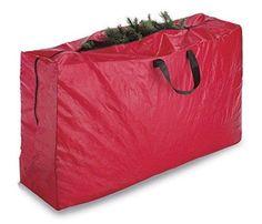 Christmas Tree Storage Tote Christmas Tree Storage Holiday Box Tote Compartment Lid Red Seasonal