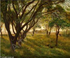 KYHN Vilhelm Peter Carl, 1819-1903 (Denmark) Title : Chickens in the garden
