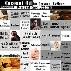 Cocunut oil for personal hygiene