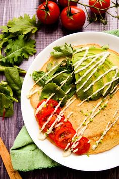 Savory Lentil + Quinoa Protein Pancakes | These savory vegan, gluten-free + grain-free pancakes pack a whopping 13g of protein per cake!