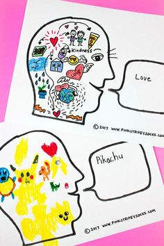 How Does Your Brain Work- Easy Art Activity Inspired by The Girl Who Thought In Pictures: Temple Grandin The Effective Pictures We Offer You About group Art therapy activities A quality picture can te Drawing Activities, Art Therapy Activities, Learning Activities, Kids Learning, Art Projects For Adults, Activities For Adults, Art Therapy Projects, Therapy Ideas, Kids Therapy