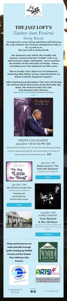 TJL's Harbor Jazz Festival (date correction)