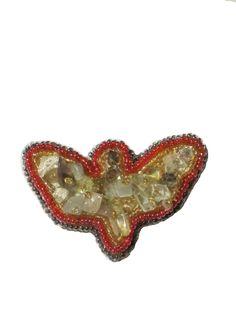 Broşă artizan – Fluture stilizat