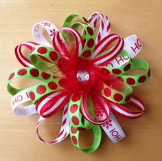 Hair Bow: Christmas hair bow  Bow Bird Boutique
