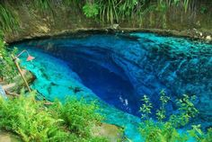 """Enchanted River is found in Philippines . It Named """"enchanted"""" because no one has ever reached its bottom. Many people, including scuba divers, have tried reaching for the bottom but have failed, hence the legend of its bottomless pit."""