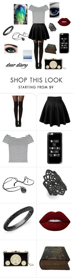 """""""Hipster"""" by beckybesel ❤ liked on Polyvore featuring Boohoo, Lipsy, Casetify, nOir, Anne Sisteron, Lime Crime, Bourjois, Pour Les Femmes and Kate Spade"""
