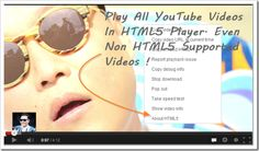 Make YouTube videos fast by fixing its buffering problems safely and securely.A Simple Trick to Force Every Video To Play In The HTML5 player