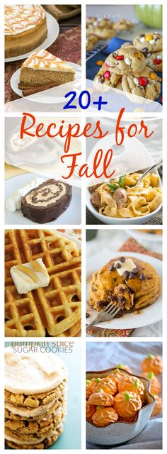 20+ Recipes for Fall - a collection of the best fall recipes! Breakfast, soup, pasta, desserts, and so much more!