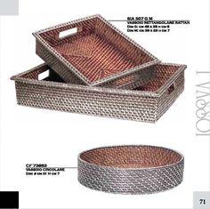 vassoi in rattan rivestito in argento