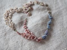 beautiful ribbon embroidery by The Common Thread, designed by Nicki Franklin of the Stitchery Ribbon Embroidery Tutorial, Silk Ribbon Embroidery, Hand Embroidery, Embroidery Hearts, Cross Stitch Embroidery, Embroidery Patterns, Embroidery Supplies, Stitch Patterns, Crochet Stitches For Beginners